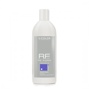 V-COLOR RE FORM Pro Silver Touch 500мл. Шампунь Серебристо-Фиолетовый для обесцвеченных блондированных и седых волос.