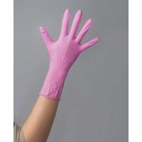Перчатки Нитрил розовые S 100шт/уп