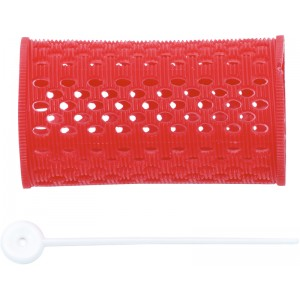 Бигуди пластиковые DEWAL, красные d 38 мм 12 шт/уп арт.RMHR1