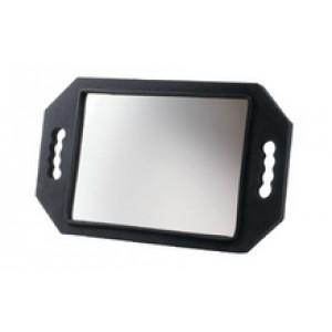 Зеркало заднего вида DEWAL, полимер,черное, с двумя ручками 28х21 см арт.MR-9M26