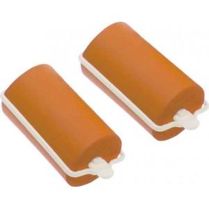 Бигуди резиновые Dewal Beauty d 32ммx70мм(10шт) оранжевые арт.DBRZ32