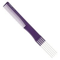 Расческа Dewal Beauty для начеса с металлическими зубцами, фиолетовая 19,0 см арт.DBFI6506