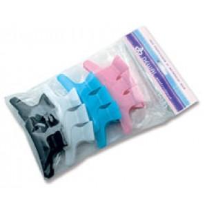 """Зажим для волос DEWAL""""Бабочка"""" цветной, пластик, 8 см, 12 шт/уп арт.CL2202"""