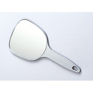 Зеркало косметическое DEWAL, пластик, серебристое, с ручкой 12х15 см арт.MR-9M17