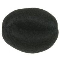 Валик для прически DEWAL, искусственный волос+сетка,черный d14см арт.HO-5141Black