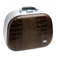 Чемодан для парикмахерских инструментов DEWAL, иск. кожа, коричневый 30,5x16,0x23,0см арт.HP808C