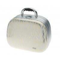 Чемодан для парикмахерских инструментов DEWAL, иск.кожа, белый с золотом 35,5x28,5x20,0см арт.HP817B