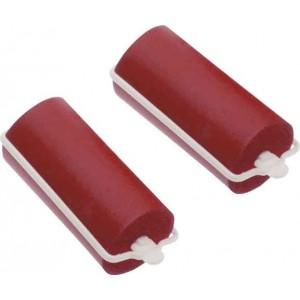 Бигуди резиновые Dewal Beauty d 22ммx70мм (10шт) красные арт.DBRZ22