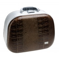 Чемодан для парикмахерских инструментов DEWAL, иск. кожа, коричневый 35,5x28,5x20,0см арт.HP807B