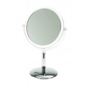 Зеркало настольное DEWAL, пластик, серебристое 15x21,5см арт.MR-417
