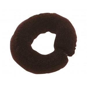 Валик для прически DEWAL, сетка с кнопкой, коричневый 25см арт.HO-5102 Brown