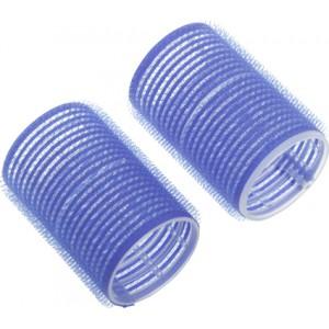 Бигуди-липучки DEWAL,синие d 78мм 6шт/уп арт.R-VTR19