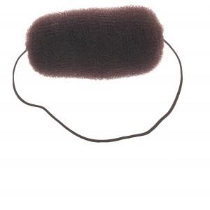 Валик для прически DEWAL, сетка с резинкой, коричневый 12 см арт.HO-5113 Brown