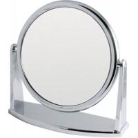 Зеркало настольное DEWAL, пластик, серебристое 14х23см арт.MR-330