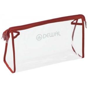 Косметичка DEWAL, полимерный материал, прозрачно-красная 25х8х15 cm арт.GS-P002-2