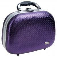 Чемодан для парикмахерских инструментов DEWAL , иск. кожа, фиолетовый 26,0x13,0x19,0см арт.HP804M