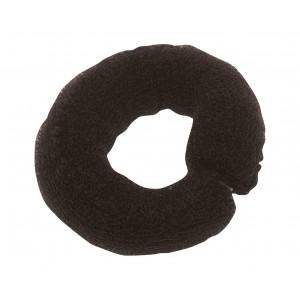 Валик для прически DEWAL, сетка с кнопкой, черный 25 см арт.HO-5102 Black
