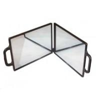 Зеркало заднего вида DEWAL,пластик,черное,складное, с двумя ручками 23х30см арт.NB00035