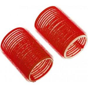 Бигуди-липучки Dewal Beauty d 36ммx63мм(10шт) красные арт.DBL36