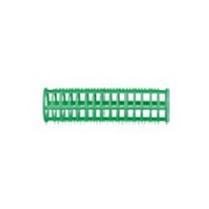 Бигуди пластик Dewal Beauty d23ммx76мм, (10шт)зеленые в комплекте шпильки р-р 80мм. арт.DBPP23