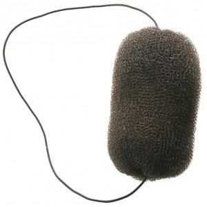 Валик для прически DEWAL, сетка с резинкой, черный 12 см арт.HO-5113 Black