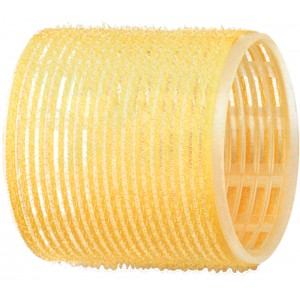 Бигуди-липучки DEWAL,желтые d 65 мм 6шт/уп арт.R-VTR17