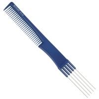 Расческа Dewal Beauty для начеса с металлическими зубцами, синяя 19,0 см арт.DBS6506