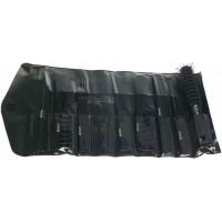 Набор расчесок DEWAL в черном чехле, черный, 8 предметов арт.CO-6000K8