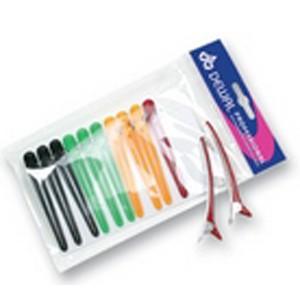 Зажим для волос DEWAL цветной, пластик+ металл, 8 см, 12 шт/уп арт.CL2403