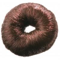 Валик для прически DEWAL, искусственный волос, коричневый d8 см арт.HO-5115 Brown