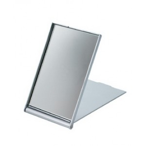 Зеркало косметическое DEWAL,пластик,серебристое, складное 7,5х 5см арт.MR-9M404
