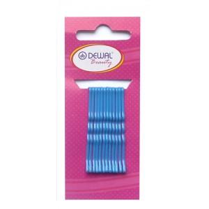 Невидимки Dewal Beauty волна 50 мм (12 шт) синие арт.N-12BLUE