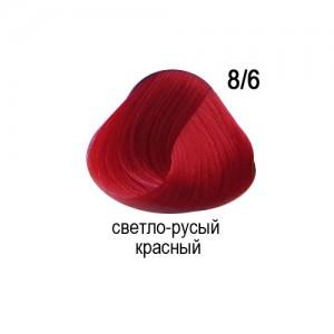 OLLIN COLOR 8/6 светло-русый красный 60мл Перманентная крем-краска для волос