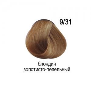 OLLIN COLOR 9/31 блондин золотисто-пепельный 60мл Перманентная крем-краска для волос