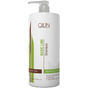 OLLIN BASIC LINE Восстанавливающий шампунь с экстрактом репейника 1000мл/ Reconstructing Shampoo wit