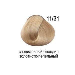 OLLIN COLOR 11/31 специальный блондин золотисто-пепельный 60мл Перманентная крем-краска для волос