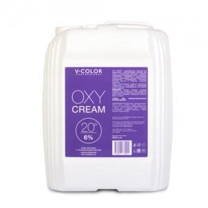 V-COLOR Oxy Cream 6% (20) Крем-перекись с ухаживающим маслом канистра 4л.
