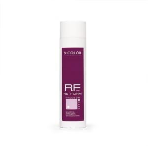V-COLOR RE FORM Pro 250мл. Шампунь СИЛА ЦВЕТА для окрашенных волос с протеинами пшеницы и аминокислотами.