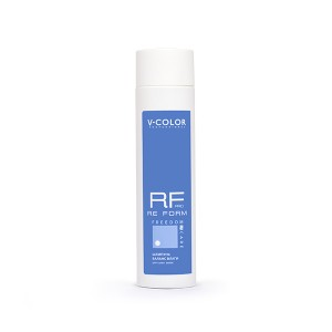 V-COLOR RE FORM Pro 250мл. Шампунь БАЛАНС ВЛАГИ увлажняющий для сухих волос с аминокислотами пшеницы и полисахаридами.