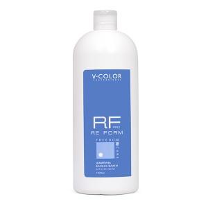 V-COLOR RE FORM Pro 1000мл. Шампунь БАЛАНС ВЛАГИ увлажняющий для сухих волос с аминокислотами пшеницы и полисахаридами.