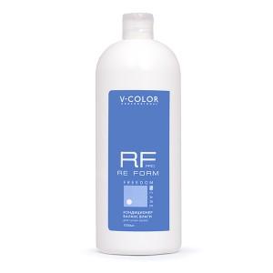 V-COLOR RE FORM Pro 1000мл. Кондиционер БАЛАНС ВЛАГИ увлажняющий для сухих волос с аминокислотами пшеницы и полисахаридами.