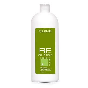 V-COLOR RE FORM Pro 1000мл. Шампунь УКРЕПЛЯЮЩИЙ для всех типов волос с пантенолом и витамином РР.